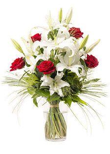 Bouquet Chic Lys Rose Blanc Rouge - ORPHEE. 1,50€ remboursés sur tout le site #Interflora via #eBuyClub www.ebuyclub.com/interflora-512?trckpro=Pinterest_partage