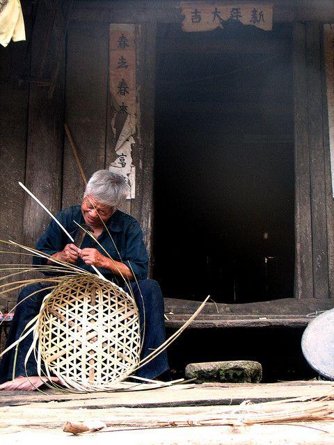 Artesanía de bambú japonés