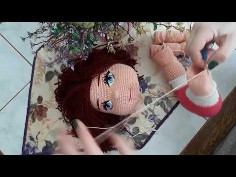 Amigurumi Kız Bebek Yapımı 2.Bölüm - Ayak ve Bacak Yapılışı, Örgü ... | 360x480