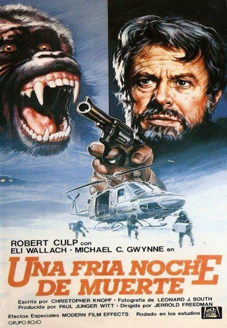 A Cold Night's Death (« La mort par une nuit froide » - Terreur dans la montagne en français) de 1973 est un téléfilm produit aux États-Unis. Le film a été diffusé le 30 janvier 1973, sur le réseau ABC. Robert Jones et Frank Enari sont deux chercheurs de la station Tower Mountain qui essaient de démêler la mort mystérieuse d'un collègue.  Robert soupçonne qu'il y a quelqu'un d'autre à part les primates qui habite leur station polaire.