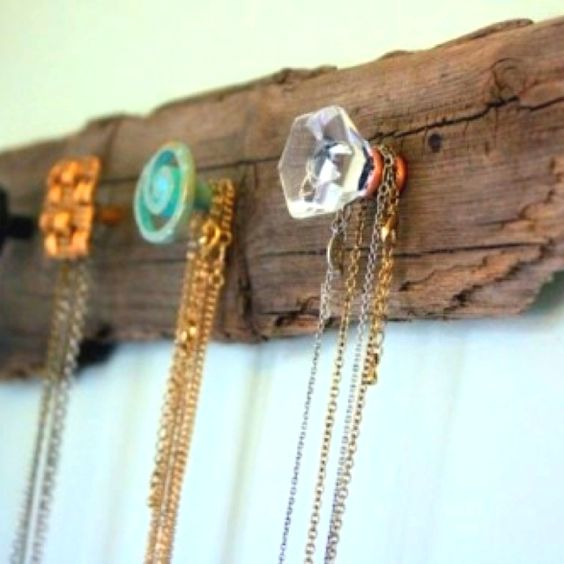 screw cheap furniture knobs into wood for a necklace holder cheap furniture knobs