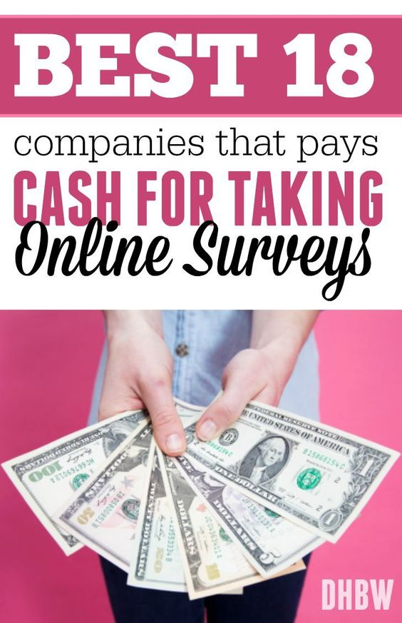 Did you know you could make money from home taking online surveys? Here are the best 18 companies that pays cash! make extra money at home, make extra money in college