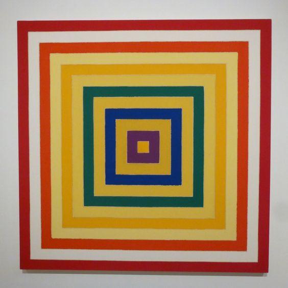 Frank Stella, Scramble: Ascending Spectrum/Ascending Yellow Values
