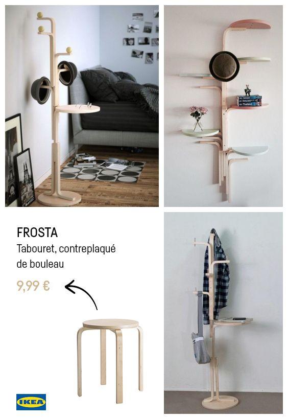 Ikea Hacks Frosta Porte Manteaux Ikea Detournement Meuble
