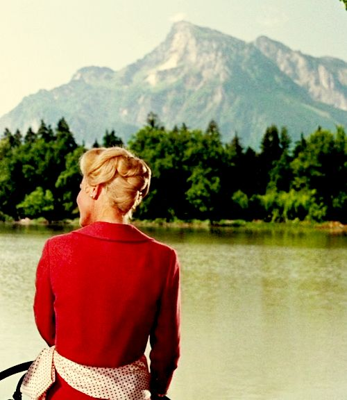 Baroness Schraeder (Elinor Parker) & The Alps in The Sound of Music
