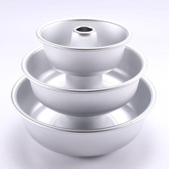 """ROUND Cake Tin 5"""" 7"""" 8.5""""  Bundt Cake Baking Tin Savarin Kugelhopf Pan Pudding"""