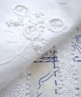 karen ruane: embroidery on paper