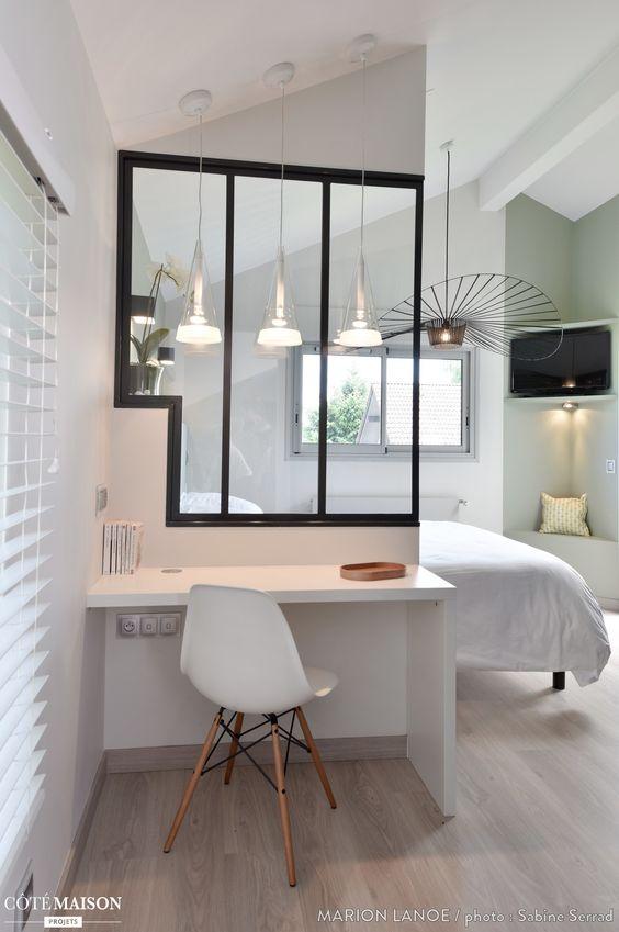 Belle maison d architecte o j ai du repenser les diff rents espaces int rieu - Idee pour separer une chambre en deux ...