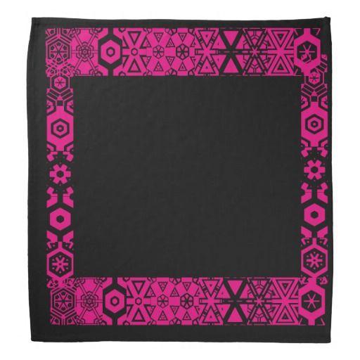 BLACK design bandana