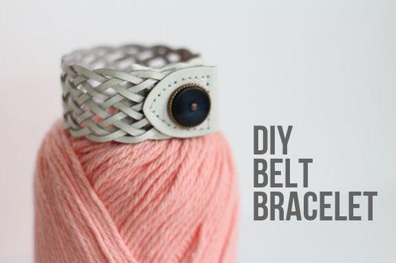 DIY Belt Bracelet   Henry HappenedHenry Happened