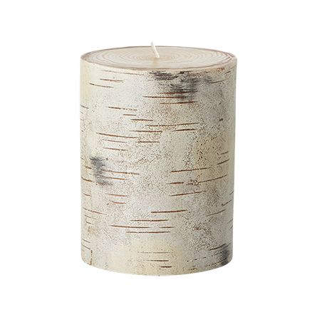 "Birch Tree 3"" X 4"" Pillar Candle 