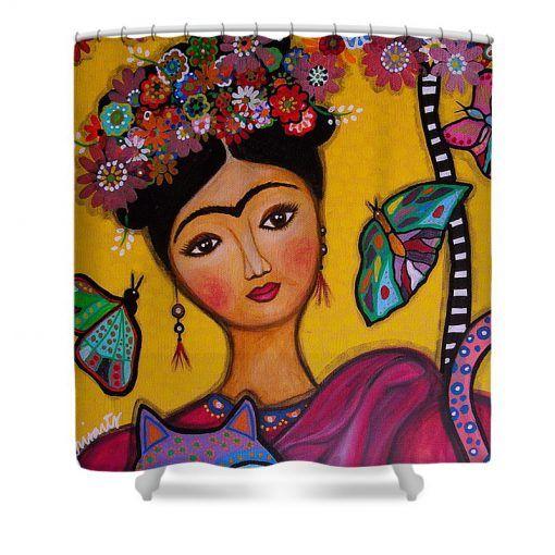 Frida Kahlo Art Shower Curtain Km Personalized Shower Curtain