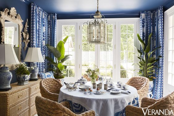 Pretty Blue White Interior Design