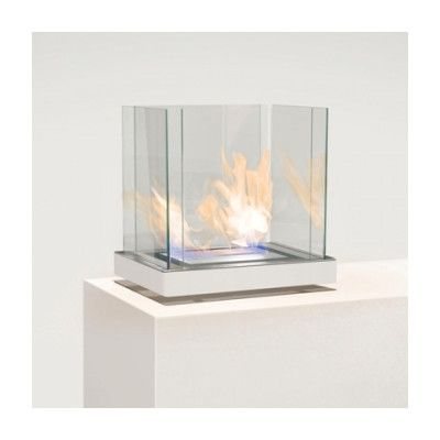 Radius Design Top Flame Ethanol Fireplace Size / Finish: 1.7 Liter / Stainless Steel Finish / White Body 1*551D