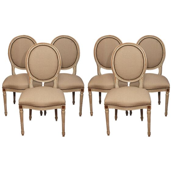 Set of 6 Louis XVI style dining room chairs Louis xvi Set of