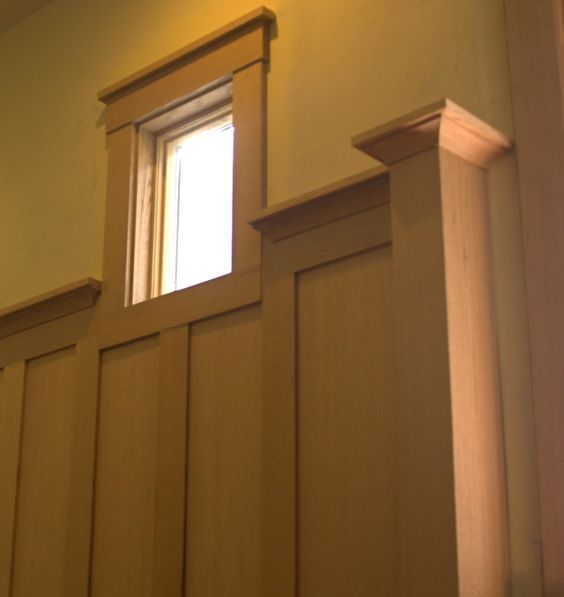 Arts crafts wainscoting family room pinterest for Arts and crafts wainscoting