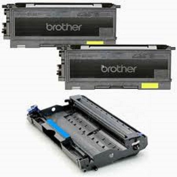 2 Pack Brother Toner TN350 Black Cartridges 1 Brother Drum DR350 Unit Reman Set #Brother