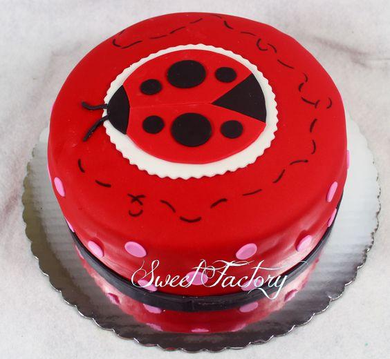 Ladybug cake.