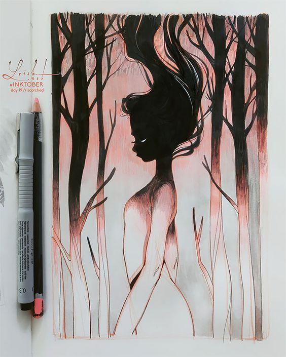 365 Hongochai Artist Arte Inspirador Dibujar Arte Dibujos Terrorificos