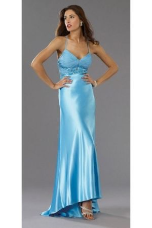 Empire Empire Elastic Silk-like Satin Backless Sleeveless Baby Prom Dress PD2542