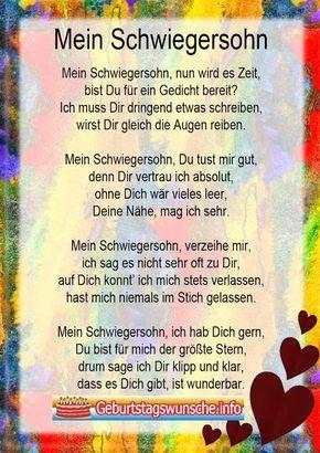 Geburtstagswunsche Fur Den Schwiegersohn Gedichte Und Spruche