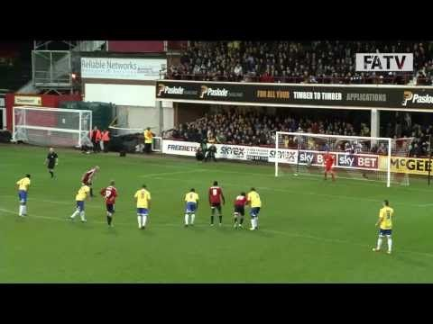 Brentford vs Staines Town 5-0, FA Cup 1st Round. 2013-14 highlights.
