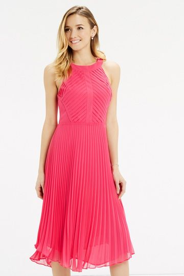 Oasis pink pleat dress  SS16  Pinterest  Pink Oasis and Dresses