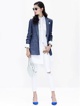 Banana Republic Linen Blazer | Fashion Ql