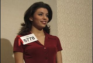 Eva Longoria competing in the commercial competition at IMTA! Eva had 38 agencies who wanted to represent her!  ©IMTA 1998