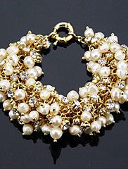 Fashion Ladies' Pearl In Alloy Bracelet – USD $ 21.99