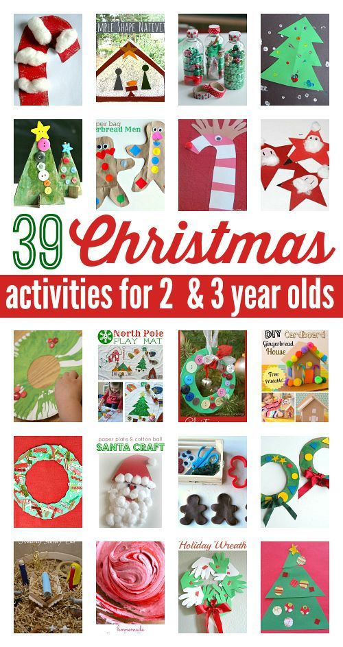 18+ Crafts for two year olds christmas ideas