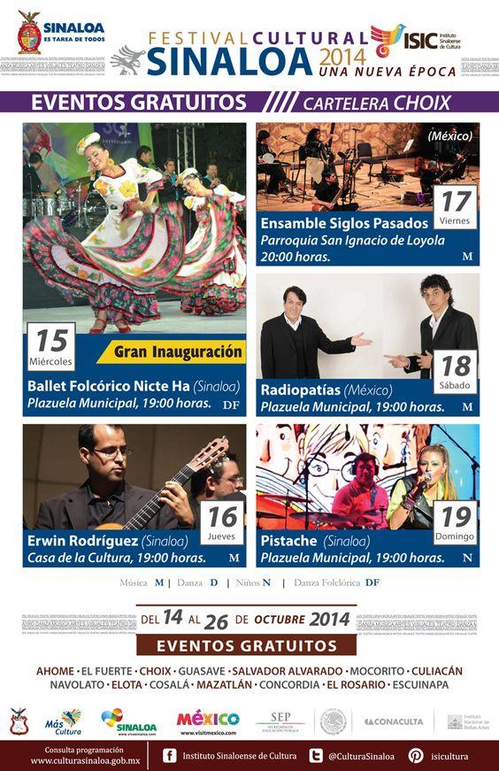 Festival Cultural Sinaloa 2014 Una Nueva Época, del 14 al 26 de Octubre en #Choix