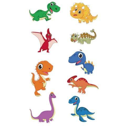 Trendy Waterproof Cartoon Dinosaur Tattoo Sticker Dinosaur Tattoos Cartoon Dinosaur Tattoo Stickers