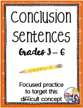 Ending essay sentence