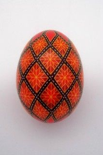pysanky duck egg:
