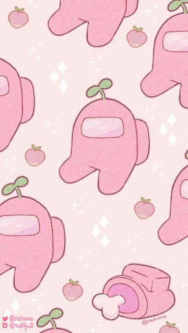 Wallpaper Among Us Pink In 2020 Wallpaper Iphone Cute Cute Patterns Wallpaper Aesthetic Iphone Wallpaper