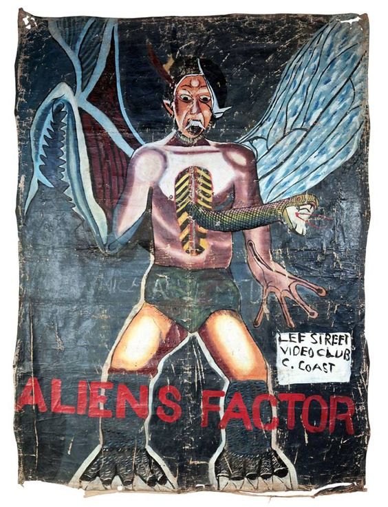 Hand-painted Horror Movie Posters from Ghana!