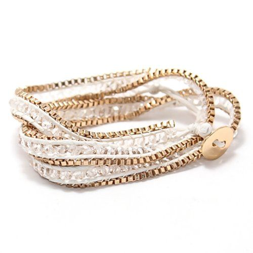 Find it at the Foundary - Chain and Thread Wrap Around Bracelet