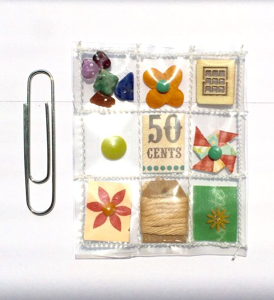 Mini Pocket Letter Planner Charm by Jackie Benedict
