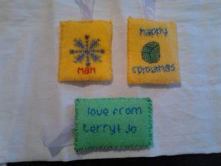 gift tags made for Christmas bags