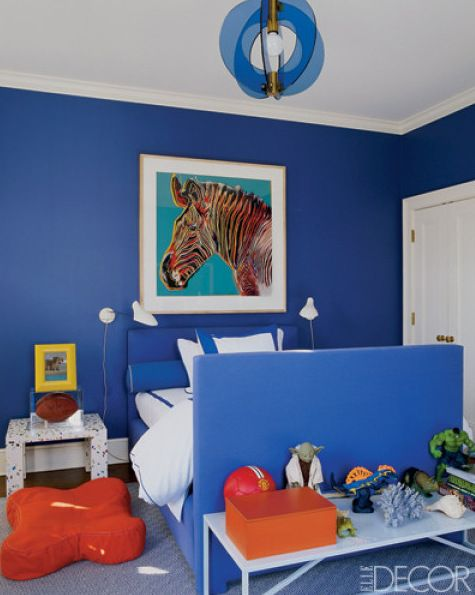 Boys bedroom in a bold Cobalt BlueChildrens RoomsPinterest. Blue boy bedroom