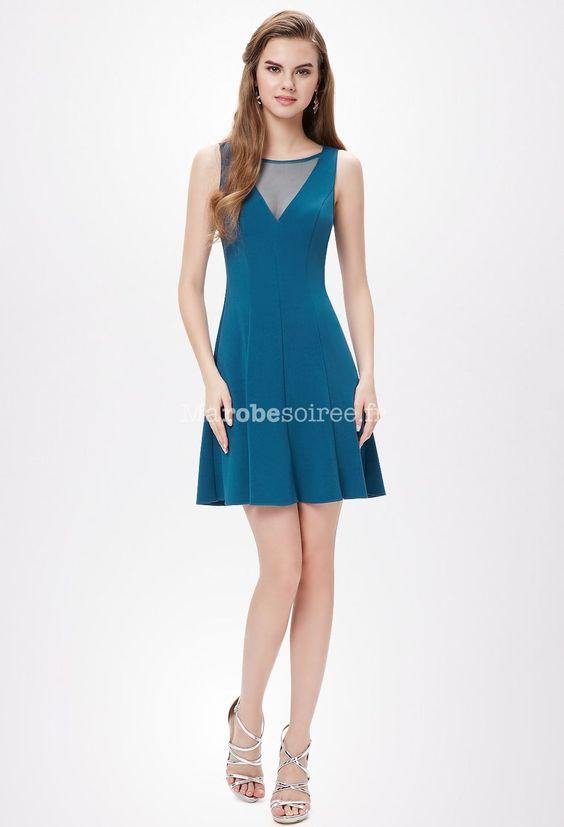 Robe mariee bleu canard