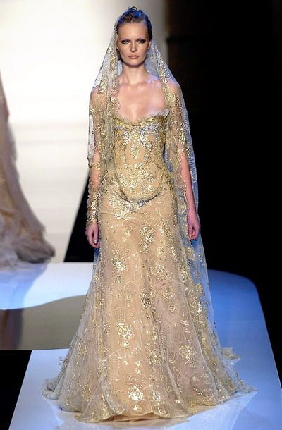 Wedding Gowns For Golden Wedding : Beautiful wedding and gold dresses on