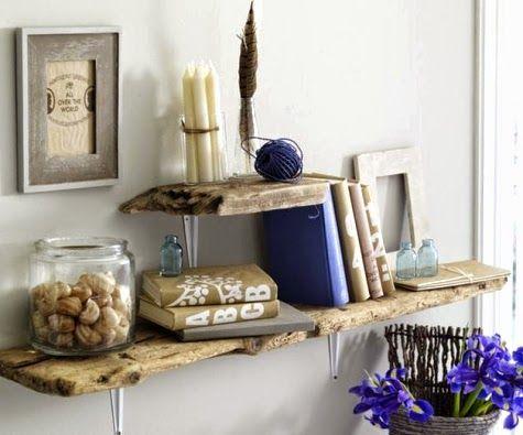 Driftwood wall shelves making guests comfortable for Driftwood wall shelves