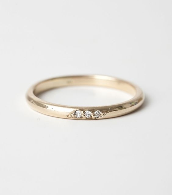 I would love this for a promise or engagement ring Something small simple