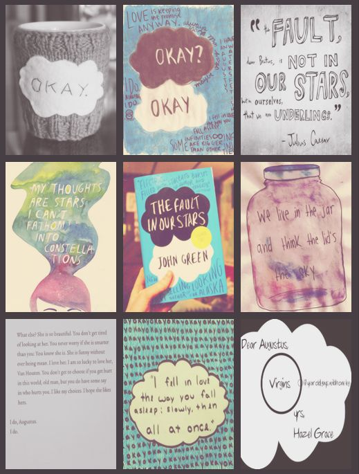 The Fault In Our Stars  http://aryadrotningu.tumblr.com/tagged/amazing-books-list