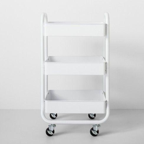 3 Tier Metal Utility Cart Made By Design Dorm Storage Dorm Room Storage Dorm Room