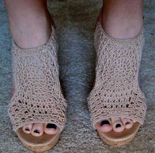 Crochet wedges perfect for spring/summer!