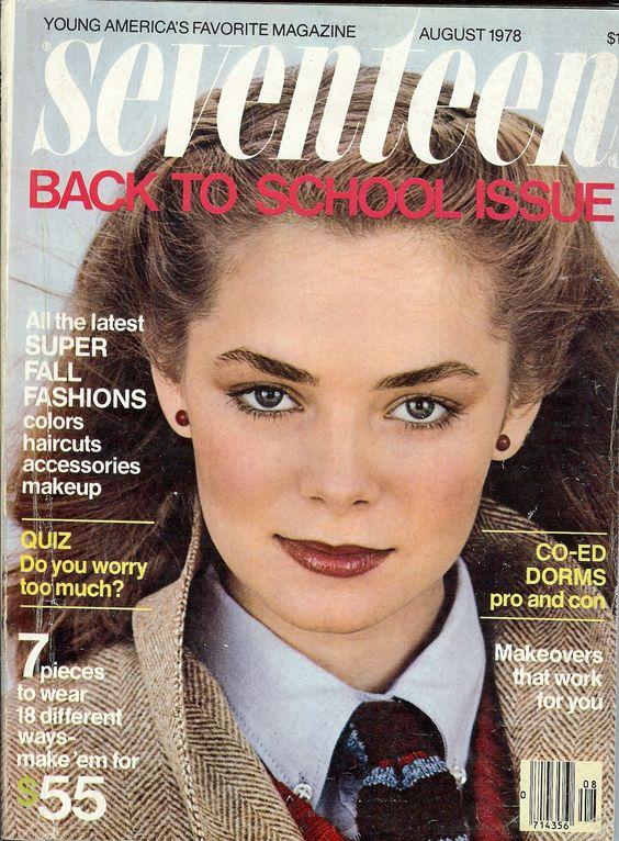 Seventeen Magazine Back-to-School issue August 1978 - Model: Lari Jane Taylor