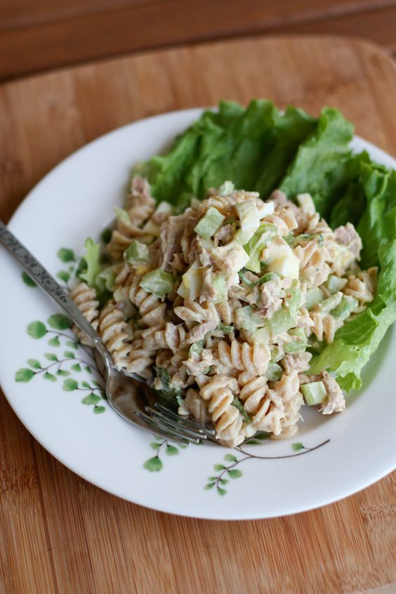 Creamy Tuna Pasta Salad With Greek Yogurt. A healthy combinations of whole grains and protein make this pasta salad hearty and filling - but so good for you. A little more work than I would normally do but it's good for you!